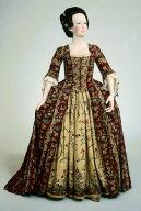 Dress and petticoat (robe à la française and petticoat)