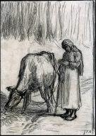 [Girl Tending a Cow, Girl Tending a Cow]