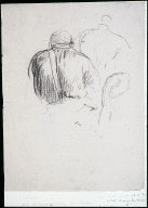 Man Seated in Foreground I (recto); Woman's Back (verso). Studies for Ha