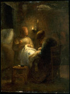Women Sewing by Lamplight (Le Veillee)