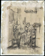 Study for Women Sewing by Lamplight
