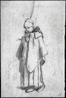 "[Shepherdess Knitting, Shepherdess Knitting (study for ""Shepherdess Knitting Beside a Tree"")]"