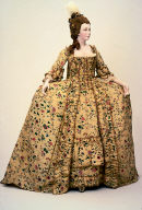 Court dress (robe à la française and petticoat)