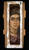 Fragmentary mummy portrait of a woman