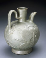 Ewer with double spout