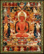 Buddha of the Eternal Life (Amitayus) and Eight Bodhisattvas