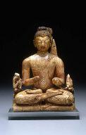 Seated Buddha with Attendant Bodhisattvas