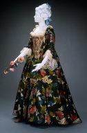 Wedding dress (robe a la francaise and petticoat)