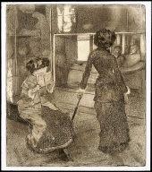 Mary Cassatt at the Louvre: The Etruscan Gallery (Au Louvre: Musée des