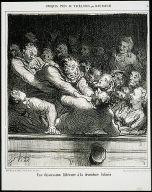 'A Literary Discussion in the Second Balcony [Une discussion littéraire à la deuxième galerie]' #4 from 'Croquis pris au théâtre'