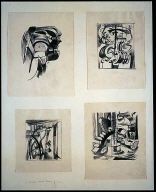 4 drawings in one mat