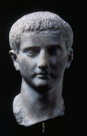 Portrait head of Drusus, son of Germanicus?; re-worked in Julio-Claudian times as either