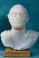 Miniature portrait of the Emperor Vespasian, recut from a bust of Nero