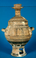 Krater with lid