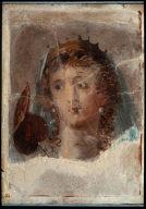 Fresco with head of a goddess