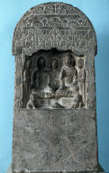 Votive Offering of Twin Buddhas with Attendants