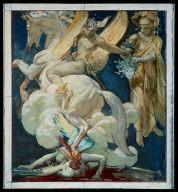 Sketch for Perseus on Pegasus Slaying Medusa