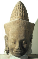 Head of a god (deva), from the balustrade at the city gateways