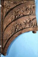 Worship of the Buddhist Symbols, half of a doorway arch