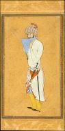 Man playing Panpipes / Illuminated Calligraphy from the Bustan of Sadi