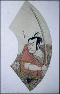 Portrait of Actor Nakamura Nakazo for a Fan