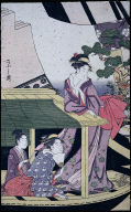 Courtesans and Geisha in the Pleasure Boat Kawaichimaru