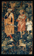 Millefleurs Tapestry with Oriental Figures (possibly from a series of country life millefl