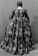 Morning dress (robe à la français and petticoat)