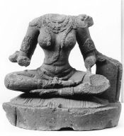 Damaged Figure of a Four-armed Goddess