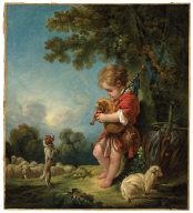 Shepherd Boy Playing Bagpipes