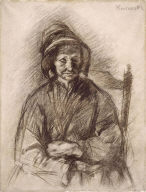 Old Woman in Bonnet and Shawl, Seated