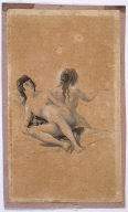 Two Nude Young Women on a Bed (recto of double-sided drawing from the Sanlúcar Sketchbook