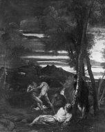 Wrestlers in a Landscape