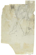 Recto: Proportional study of a man holding a lance and facing right