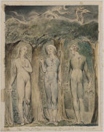 """The Brothers Meet the Attendant Spirit (Illustration to Milton's """"Comus"""")"""