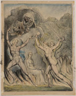 """The Brothers Driving out Comus (Illustration to Milton's """"Comus"""")"""