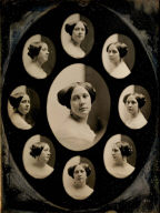 Portrait of a Woman in Nine Oval Views