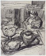 Lady at Tea Table