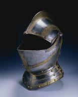 Close Helmet from a Small Garniture, perhaps for Siegmund Friedrich, Freiherr von Herbertstein