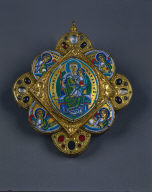 Disk Reliquary: Virgin and Child Surrounded by the Four Cardinal Virtues