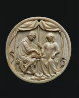 Mirror Case: Tristan and Isolde Playing Chess