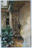 [The Patio, Majorca: Terrace with flowering plants]