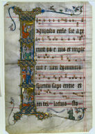 Leaf from the Wettinger Gradual: Historiated Initial (I) with Scenes from the Life of St. Augustine