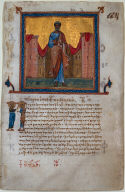 Leaf from a Psalter and New Testament: St. Peter