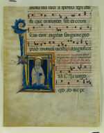 Leaf from an Antiphonary with Historiated Initial (L): St. Lucy
