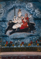 Siva and Devi on Gajasura's Hide