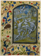 Leaf from a Book of Hours: Annunciation to the Shepherds