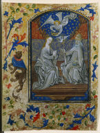 Leaf from a Book of Hours: Coronation of the Virgin