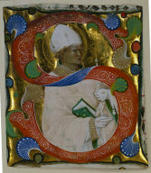 Historiated Initial (S) Excised from a Gradual: St. Augustine