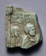[Relief Fragment with Crucifixion: The Magdalen and Virgin Mary, Fragment of an Icon of the Crucifixion: Mary Magdalen and the Virgin Mary]